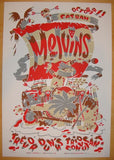 2004 The Melvins - San Diego Concert Poster by Guy Burwell