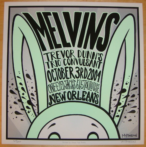2004 The Melvins - Silkscreen Concert Poster by Tara McPherson