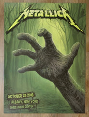 2018 Metallica - Albany AE Silkscreen Concert Poster by Ron Ransom