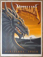 2018 Metallica - Barcelona AE Silkscreen Concert Poster by Mark5