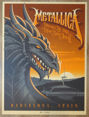 2018 Metallica - Barcelona Silkscreen Concert Poster by Mark5