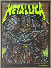 2018 Metallica - Bologna I Glow Variant Concert Poster by Munk One