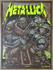 2018 Metallica - Bologna II Glow Variant Concert Poster by Munk One