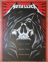 2018 Metallica - Madrid I Silkscreen Concert Poster by Acorn