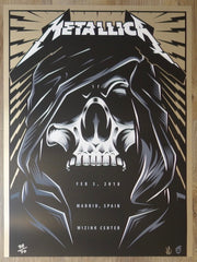2018 Metallica - Madrid I AE Silkscreen Concert Poster by Acorn