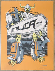 2018 Metallica - Portland Orange Variant Concert Poster by Ames