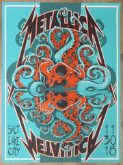 2018 Metallica - Salt Lake City Silkscreen Concert Poster by Squindo