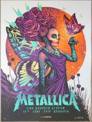 2019 Metallica - Brussels Silkscreen Concert Poster by Munk One