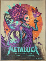 2019 Metallica - Brussels Wood Variant Silkscreen Concert Poster by Munk One