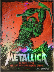 2019 Metallica - El Paso Foil Variant Concert Poster by Munk One