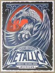 2019 Metallica - Grand Rapids Silkscreen Concert Poster by Maxx242