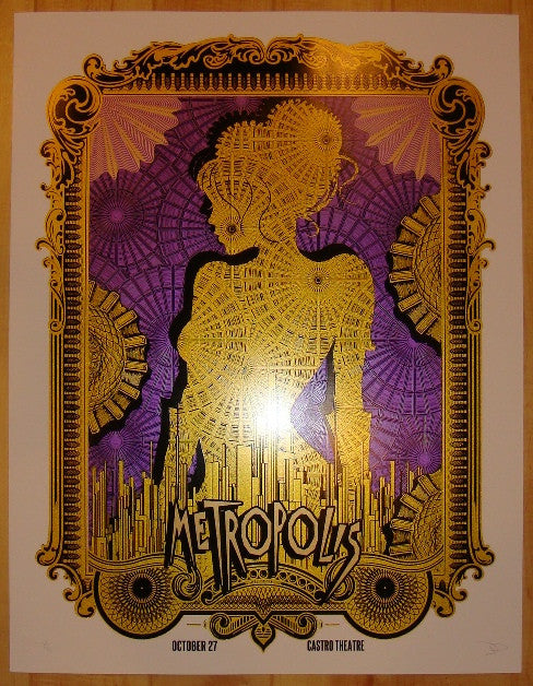 "2011 ""Metropolis"" - Variant Movie Poster by David O'Daniel"
