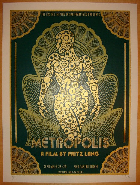 "2010 ""Metropolis"" - Green Movie Poster by David O'Daniel"