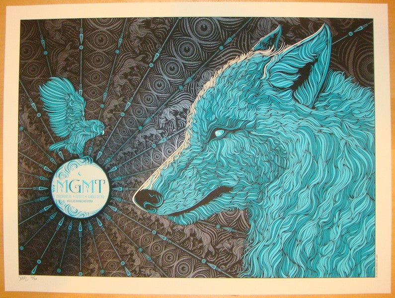 2013 MGMT - Kansas City Silkscreen Concert Poster by Todd Slater