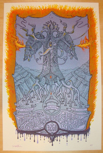 2011 Mike Gordon - Silkscreen Concert Poster by David Welker