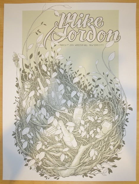 2014 Mike Gordon - NYC Concert Poster by Justin Santora