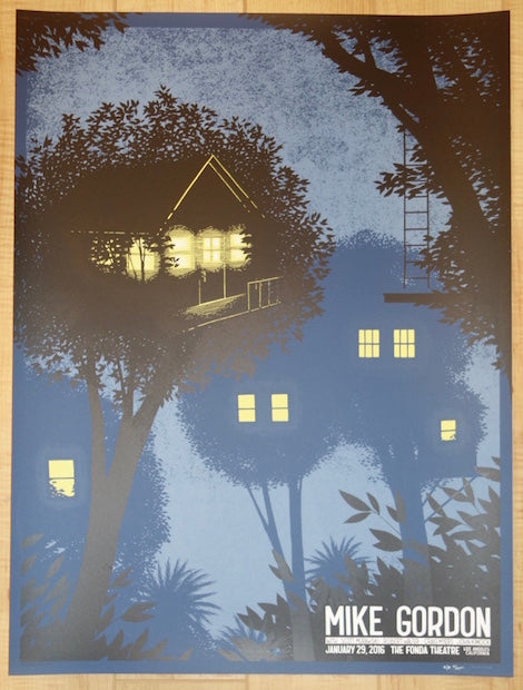 2016 Mike Gordon - Los Angeles Silkscreen Concert Poster by Justin Santora