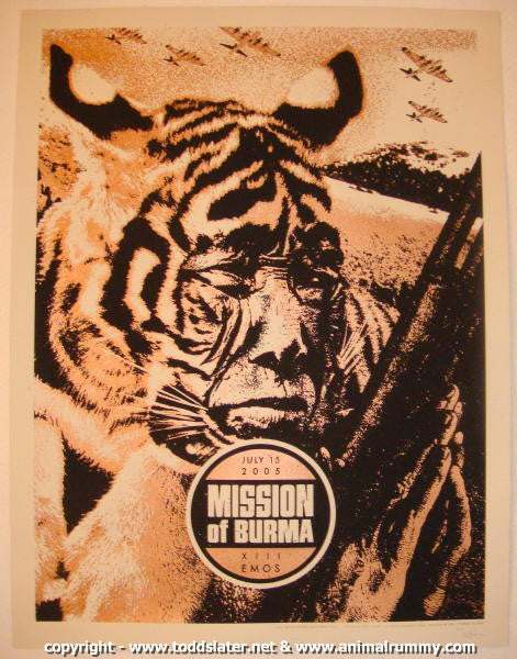 2005 Mission to Burma Silkscreen Concert Poster by Slater/Jones