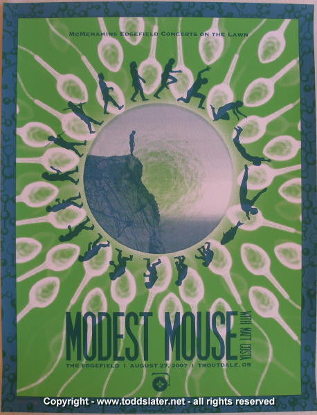 2007 Modest Mouse Silkscreen Concert Poster by Todd Slater