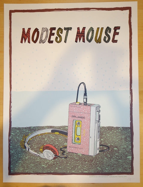 2014 Modest Mouse - Orlando Concert Poster by Fugscreens