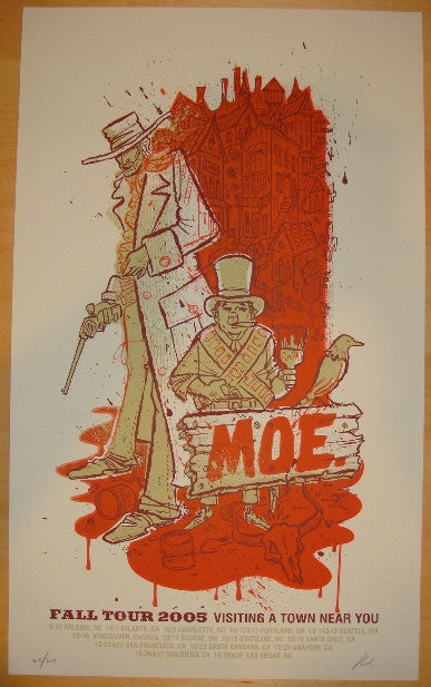 2005 Moe. - Fall Tour Silkscreen Concert Poster by Methane