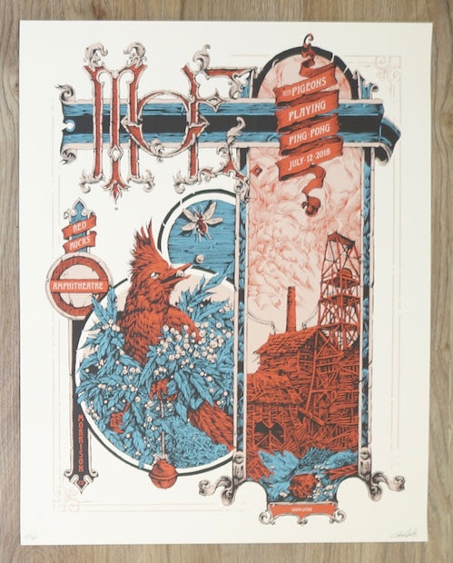 2018 Moe. - Red Rocks Silkscreen Concert Poster by Calvin Laituri