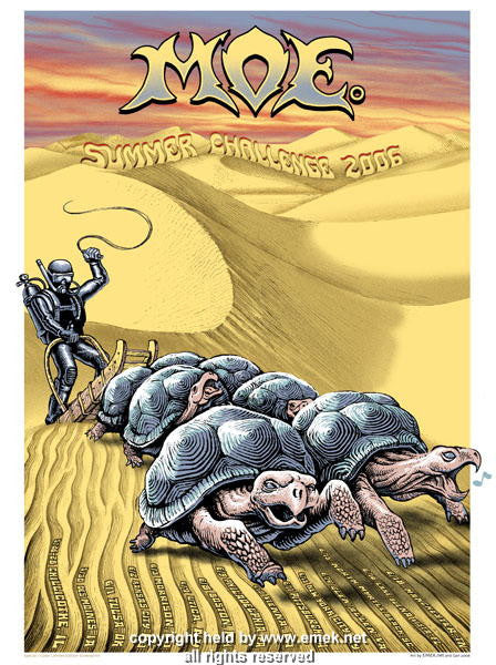 2006 Moe - Summer Challenge Silkscreen Tour Poster by Emek