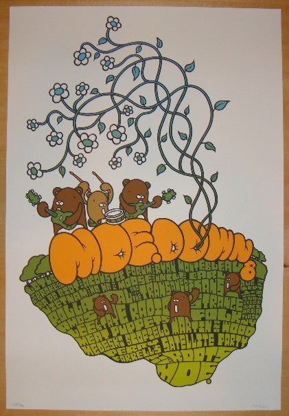 2007 Moe. Down 8 - Silkscreen Festival Poster by Mike Budai