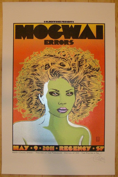 2011 Mogwai - San Francisco Concert Poster by Chuck Sperry