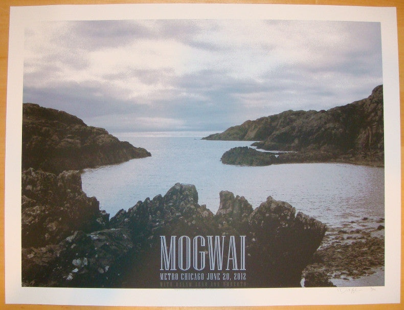 2012 Mogwai - Chicago Silkscreen Concert Poster by Crosshair
