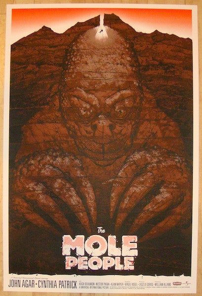 "2012 ""The Mole People"" - Silkscreen Movie Poster by Phantom City"