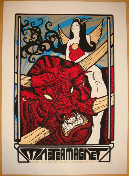 2010 Monster Magnet - London Concert Poster by Malleus