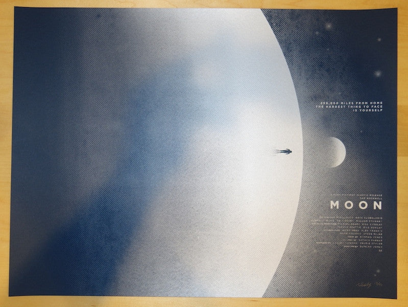 "2015 ""Moon"" - Silkscreen Movie Poster by David Moscati"