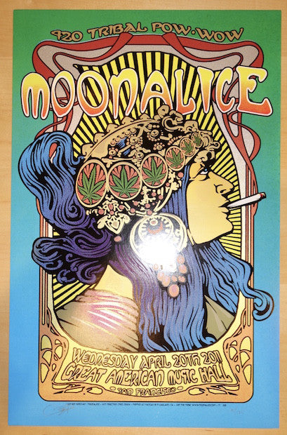 2011 Moonalice - San Francisco Silkscreen Concert Poster by Ron Donovan