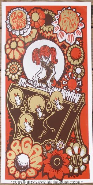 2003 Morgan - Silkscreen Concert Poster by Malleus