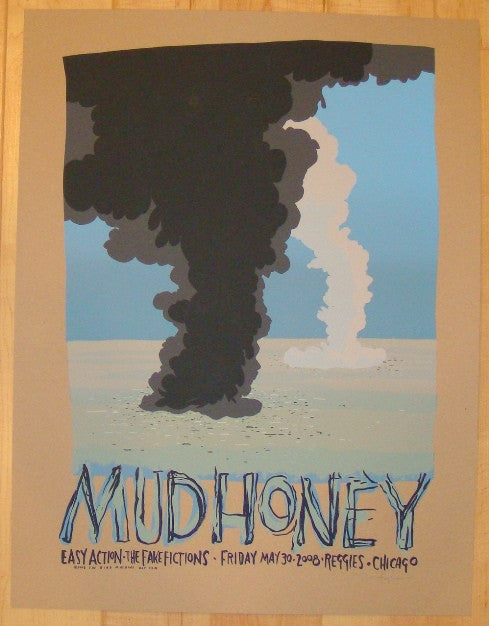 2008 Mudhoney - Chicago Silkscreen Concert Poster by Jay Ryan