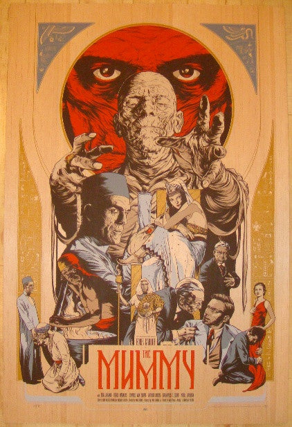 "2011 ""The Mummy"" - Wood Variant Movie Poster by Martin Ansin"