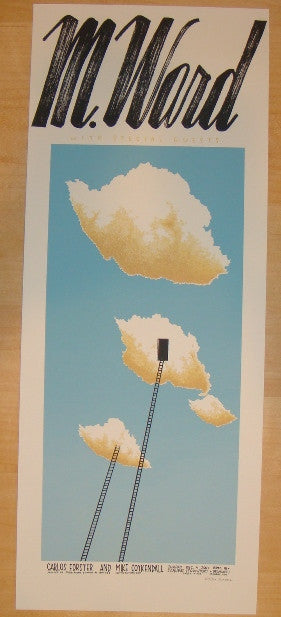 2011 M. Ward - Chicago Silkscreen Concert Poster by Justin Santora
