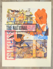 2018 The National - Nashville Silkscreen Concert Poster by Andy Vastagh