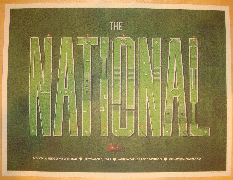 2011 The National - Columbia Silkscreen Concert Poster by DKNG