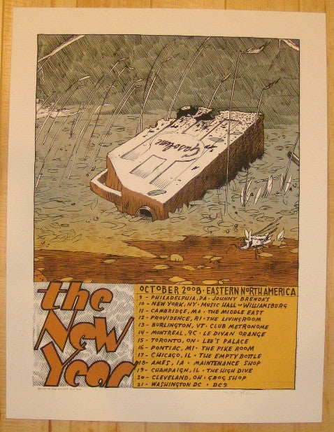 2008 The New Year - East Coast Tour Poster by Jay Ryan