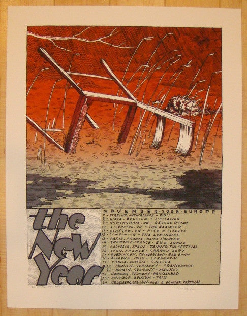 2008 The New Year - European Tour Silkscreen Poster by Jay Ryan