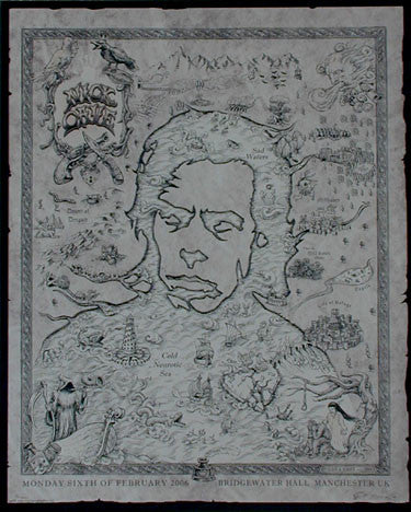 2006 Nick Cave Brown Variant Silkscreen Concert Poster by Emek