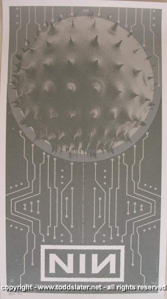 2006 Nine Inch Nails Silkscreen Concert Poster by Todd Slater