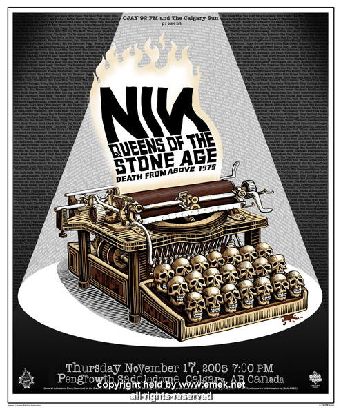 2005 Nine Inch Nails & Queens of the Stone Age Poster by Emek