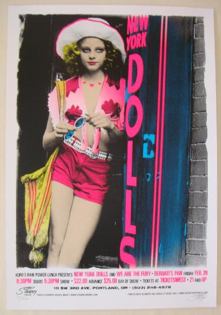 2008 New York Dolls - Silkscreen Concert Poster by Stainboy