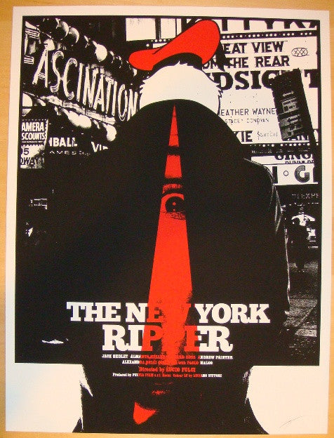 "2012 ""The New York Ripper"" - Silkscreen Movie Poster by Jay Shaw"