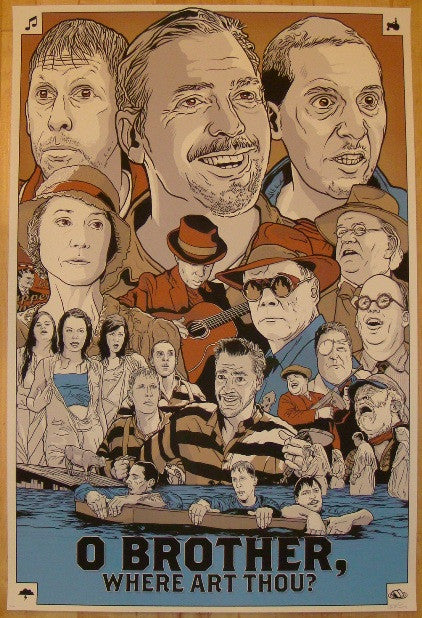"2011 ""O Brother, Where Art Thou?"" - Movie Poster by Budich"