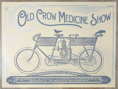 2013 Old Crow Medicine Show - Spring Tour Silkscreen Concert Poster by Status