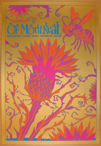 2008 Of Montreal - Silkscreen Concert Poster by Todd Slater